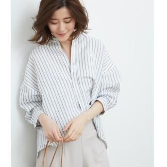 【ロペピクニック/ROPE' PICNIC】 カシュクールストライプシャツ