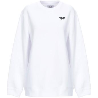 《セール開催中》ZOE KARSSEN レディース スウェットシャツ ホワイト XS コットン 50% / ポリエステル 50%