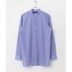 【60%OFF】 アーバンリサーチ URBAN RESEARCH Tailor ストライプバンドカラーシャツ メンズ BULE L 【URBAN RESEARCH】 【タイムセール開催中】