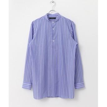 【50%OFF】 アーバンリサーチ URBAN RESEARCH Tailor ストライプバンドカラーシャツ メンズ BULE L 【URBAN RESEARCH】 【セール開催中】