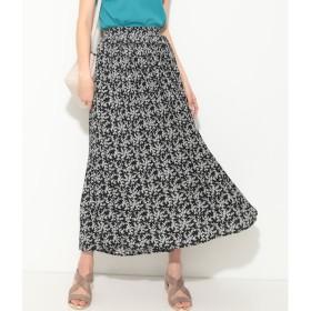 【ビス/ViS】 【WEB限定】小花柄プリーツロングスカート