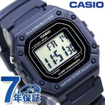 カシオ チープカシオ デジタル ネイビー 海外モデル メンズ レディース 腕時計 W-218H-2AVDF CASIO チプカシ 時計