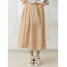 【メリージェニー/merry jenny】 レースとお花のギャザースカート