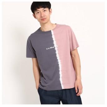 【ザ ショップ ティーケー/THE SHOP TK】 縦切替タイダイTシャツ