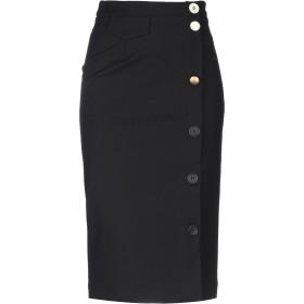 《セール開催中》COLLECTION PRIVE レディース 7分丈スカート ブラック 42 ナイロン 87% / 伸縮繊維 13%