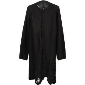 《期間限定 セール開催中》BARBARA I GONGINI メンズ カーディガン ブラック 46 毛(アルパカ) 40% / アクリル 40% / ウール 10% / ナイロン 10%