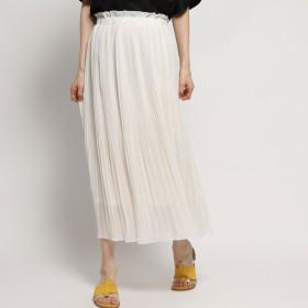 ジーラ GeeRA 裾消しプリーツロングスカート (アイボリー)