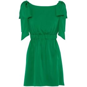《セール開催中》MILLY レディース ミニワンピース&ドレス グリーン 6 シルク 92% / ポリウレタン 8%
