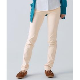 よく伸びるレーヨン混ストレッチスリムパンツ(ゆったり太もも)(股下73cm) (大きいサイズレディース)パンツ,plus size