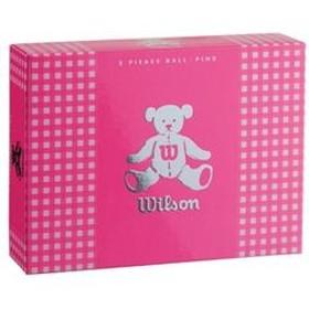 ウイルソン レディースゴルフボール ウイルソンベア 3(ピンク)1ダース 12個 WilsonBear BEAR3 PK 12P 【返品種別A】
