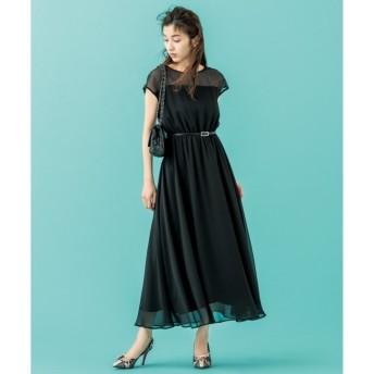 【クミキョク/組曲】 【PRIER】肩レースウエストゴム ドレス