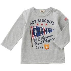 [マルイ]【セール】[80/90cm] Tシャツ(長袖 / 男の子:フラッグ / 女の子:リボン)/ミキハウス ホットビスケッツ(MIKIHOUSE HOT BISCUITS)