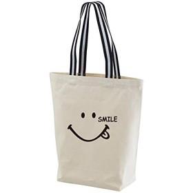 301-sanmaruichi- トートバッグ レディース マザーズバッグ スマイル ニコちゃん スマイリー キャンバス エコバッグ 買物バッグ 軽量 カジュアル シンプル A4