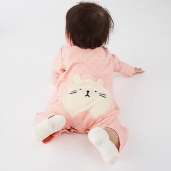 新生児 プレオール おしりアニマル長袖 ピンク ベビー・キッズウェア 新生児・乳児(50~80cm) カバーオール・ロンパース (154)