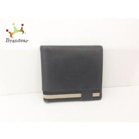 グッチ GUCCI 2つ折り財布 - - 黒×ベージュ レザー×化学繊維 新着 20190725