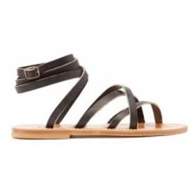 カー ジャック K.Jacques レディース サンダル・ミュール シューズ・靴 Zenobie wrap-around leather sandals black