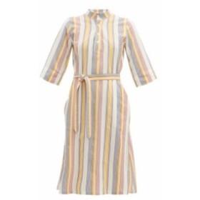 アーペーセー A.P.C. レディース ワンピース ワンピース・ドレス Oleson striped cotton-crepe dress ivory