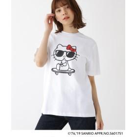 BASE CONTROL LADYS(ベース コントロール レディース) ハローキティ Hello Kitty 別注 サングラスプリント 半袖 Tシャツ