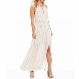ジューン&ハドソン June & Hudson レディース ワンピース ワンピース・ドレス Striped Tie Front Maxi Dress Ivory/Blush