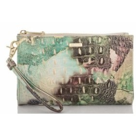 ブラーミン BRAHMIN レディース ポーチ Melbourne Collection Crocodile-Embossed Daisy Wristlet Nirvana