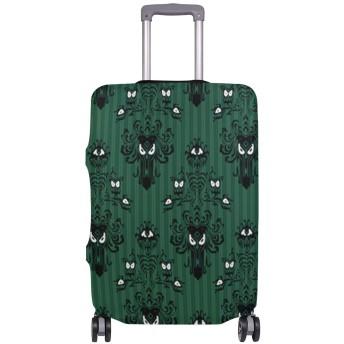 スーツケースカバー お化け屋敷1 目立つ 洗える 伸縮素材 旅行 弾性設計 防塵 ラゲッジカバー キャリーカバー 人気 S M L サイズ