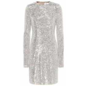 ガルバン Galvan レディース パーティードレス ワンピース・ドレス Dusk sequined minidress Platinum