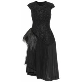 シモーネ ロシャ Simone Rocha レディース ワンピース ワンピース・ドレス Wool-blend dress with faux fur black