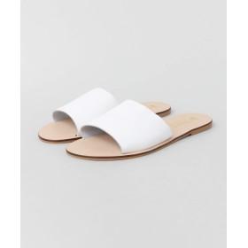 [アーバンリサーチ] 靴 サンダル GITANA レザーフラットサンダル レディース WHITE 37