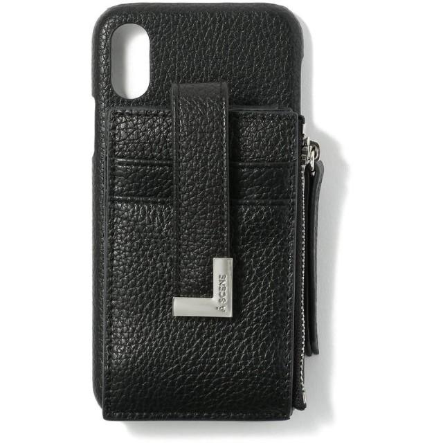ロイヤルフラッシュ A SCENE/エーシーン/B & C CARD CASE iPhone X/XS レディース BLACK 00 【RoyalFlash】