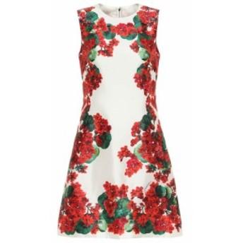 ドルチェ&ガッバーナ Dolce & Gabbana レディース ワンピース ワンピース・ドレス Floral silk minidress Gerani Fdo Bco Nat