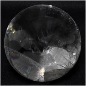【最高級】 天然 貫入水晶 丸玉 約48mm 送料無料天然石 パワーストーン 水晶 水晶玉 原石 置物 丸玉 クォーツインクォーツ