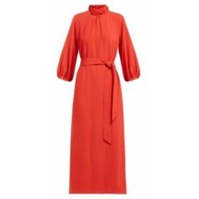 セフィン Cefinn レディース ワンピース ワンピース・ドレス Tie-waist gathered voile midi dress red