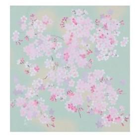 宮井 ふろしき 宇野千代 ポリエステル70cm幅 ふわり桜 12-7542-65