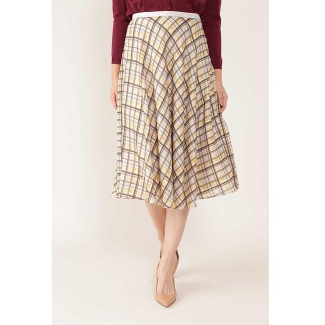 NATURAL BEAUTY / ◆[ウォッシャブル]シアーチェックフレアースカート