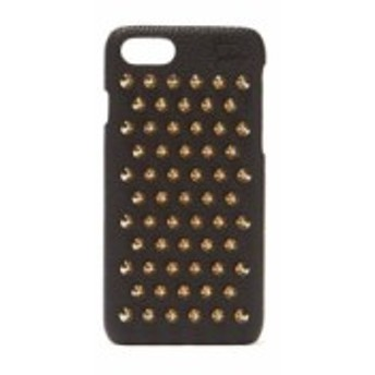 クリスチャン ルブタン Christian Louboutin レディース iPhone (8)ケース Loubiphone leather iPhone 7 & 8 case black