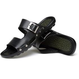 レザースリッパ メンズサンダル ビーチサンダル ビーサン ベルト インソール マッサージ 滑り止め 軽量 ルームシューズ カジュアルシューズ おしゃれ コンフォートサンダル ウォーターシューズ リゾート 夏 男性靴