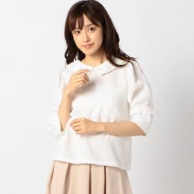 [マルイ]【セール】フラワーモチーフ襟ブラウス/ロディスポット(LODISPOTTO)