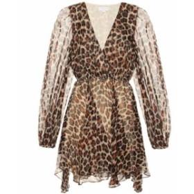 キャロライン コンスタス Caroline Constas レディース ワンピース ワンピース・ドレス Olena leopard-print silk minidress Leopard
