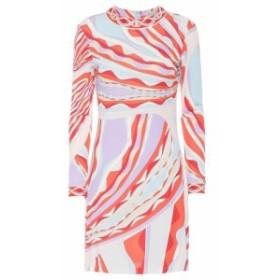 エミリオ プッチ Emilio Pucci レディース ワンピース ワンピース・ドレス Printed silk-blend dress Corallo/Celeste