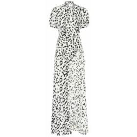 セルフ ポートレイト Self-Portrait レディース ワンピース ワンピース・ドレス Leopard printed maxi dress Cream Black