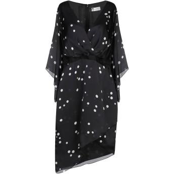 《セール開催中》LANVIN レディース ミニワンピース&ドレス ブラック 34 シルク 100% / レーヨン