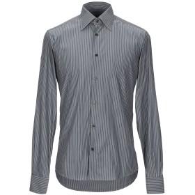 《期間限定 セール開催中》ZZEGNA メンズ シャツ グレー 40 コットン 75% / ナイロン 25%