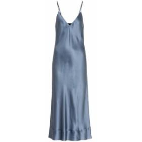 リーマシューズ Lee Mathews レディース ワンピース ワンピース・ドレス Rose silk-satin slip dress Persian Blue