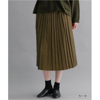 メルロー プリーツスカート1878 レディース カーキ M 【merlot】
