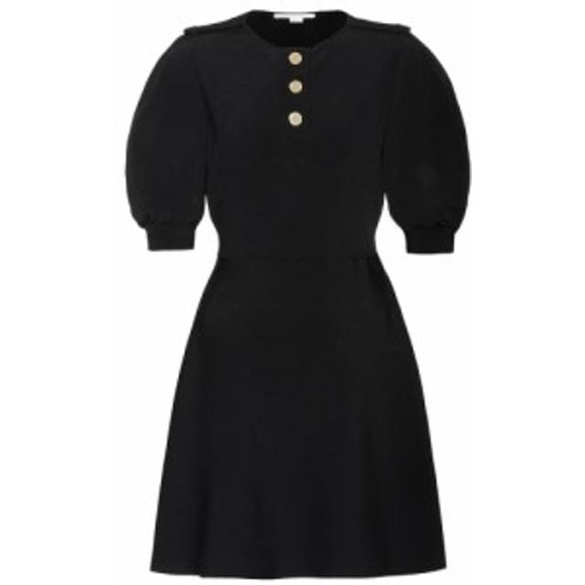 ステラ マッカートニー Stella McCartney レディース ワンピース ワンピース・ドレス Ribbed-knit minidress Black