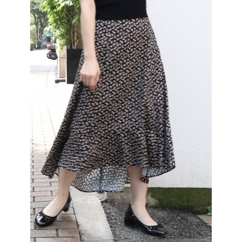 [dazzlin]フィッシュテールプリントフレアスカート