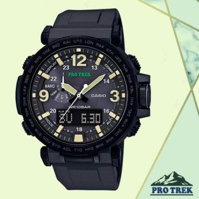 CASIO卡西歐 PRO TREK戶外感應登山錶(PRG-600Y-1D)/57mm