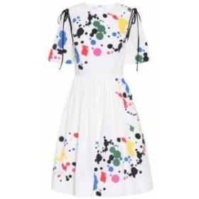 オスカー デ ラ レンタ Oscar de la Renta レディース ワンピース ワンピース・ドレス Printed stretch cotton dress White/Multicolor