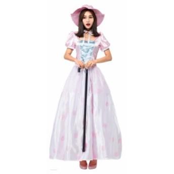 羊飼い ハロウィン プリンセス 人形 レディース ロング丈ワンピース 可愛い コスプレ パーティー仮装 コスチューム 大人用