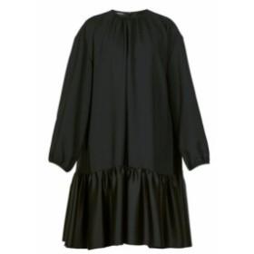 ロシャス Rochas レディース ワンピース ワンピース・ドレス Tie-back gathered crepe dress black